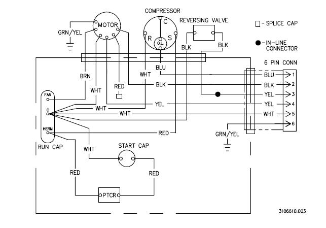 wiring schematic for typical air conditioner compressor